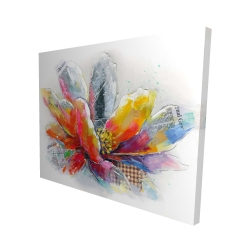 Canvas 48 x 60 - 3D - Abstract flower with texture