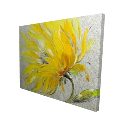 Canvas 48 x 60 - 3D - Yellow flower