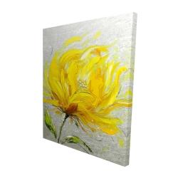 Canvas 48 x 60 - 3D - Yellow fluffy flower