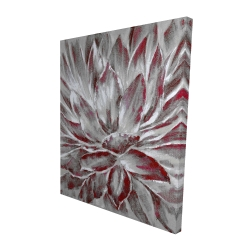 Canvas 48 x 60 - 3D - Red and gray flower