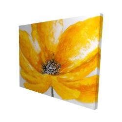 Canvas 48 x 60 - 3D - Big yellow flower