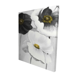 Canvas 48 x 60 - 3D - Assorted white flowers