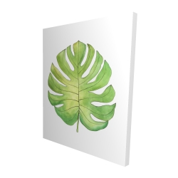 Canvas 48 x 60 - 3D - Tropical leaf