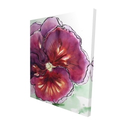 Canvas 48 x 60 - 3D - Blossoming orchid with wavy petals