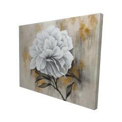 Canvas 48 x 60 - 3D - White peony