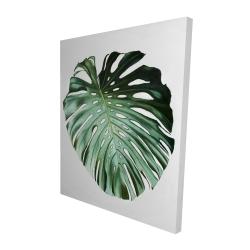 Canvas 48 x 60 - 3D - Monstera leaf