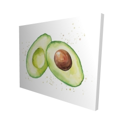 Canvas 48 x 60 - 3D - Watercolor open avocado