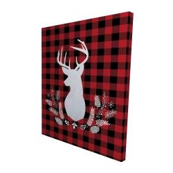 Canvas 48 x 60 - 3D - Deer plaid