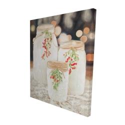 Canvas 48 x 60 - 3D - Christmas candles