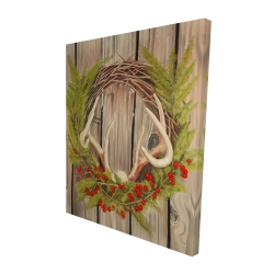 Canvas 48 x 60 - 3D - Christmas wreath with panache