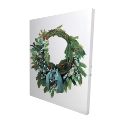 Canvas 48 x 60 - 3D - Christmas wreath