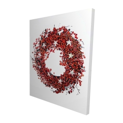 Canvas 48 x 60 - 3D - Red berry wreath
