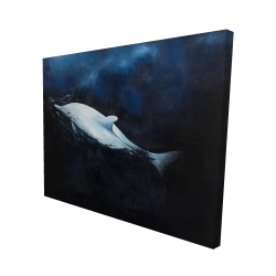 Canvas 48 x 60 - 3D - Swimming dolphin