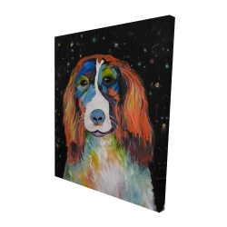 Canvas 48 x 60 - 3D - Colorful dog