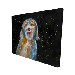 Canvas 48 x 60 - 3D - Abstract labradoodle