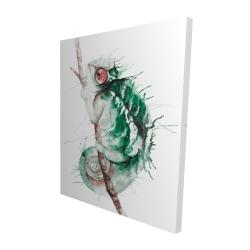 Canvas 48 x 60 - 3D - Watercolor chameleon