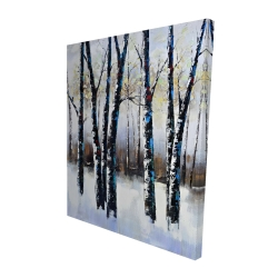 Canvas 48 x 60 - 3D - Frosted trees