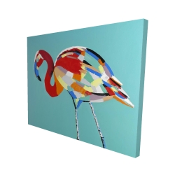 Canvas 48 x 60 - 3D - Abstract flamingo
