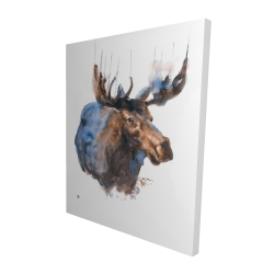 Canvas 48 x 60 - 3D - Abstract blue moose