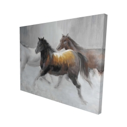 Canvas 48 x 60 - 3D - Herd of wild horses