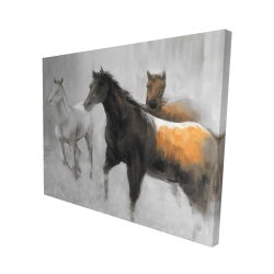 Canvas 48 x 60 - 3D - Abstract herd of horses