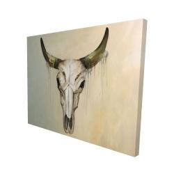 Canvas 48 x 60 - 3D - Color fading bull skull