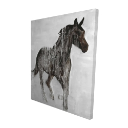 Canvas 48 x 60 - 3D - Abstract brown horse