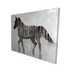 Canvas 48 x 60 - 3D - Gambading abstract horse