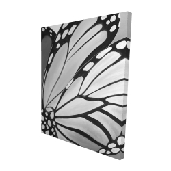 Canvas 48 x 60 - 3D - Monarch wings closeup