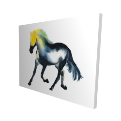Canvas 48 x 60 - 3D - Galloping horse