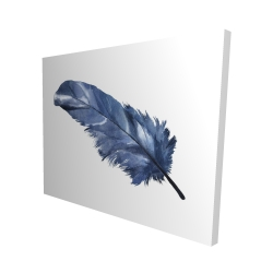 Canvas 48 x 60 - 3D - Blue feather