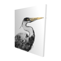 Canvas 48 x 60 - 3D - Great heron