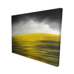 Canvas 48 x 60 - 3D - Yellow hill