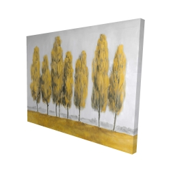 Canvas 48 x 60 - 3D - Abstract yellow trees