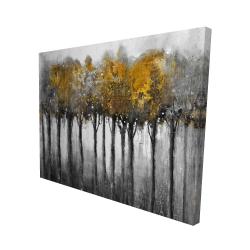 Canvas 48 x 60 - 3D - Illuminated forest
