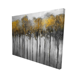 Canvas 48 x 60 - 3D - Abstract yellow forest