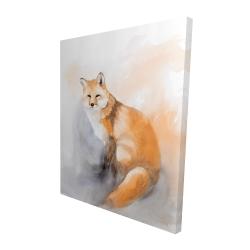 Canvas 48 x 60 - 3D - Watercolor fox