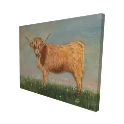 Canvas 48 x 60 - 3D - Daisy the highland cow