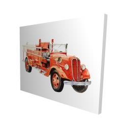 Canvas 48 x 60 - 3D - Vintage fire truck
