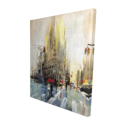 Canvas 48 x 60 - 3D - Abstract rainy street