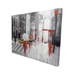Canvas 48 x 60 - 3D - Abstract cloudy city street