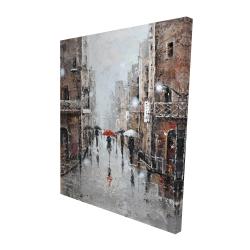 Canvas 48 x 60 - 3D - City rain