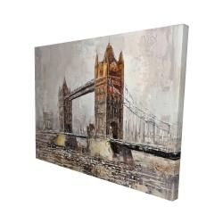 Canvas 48 x 60 - 3D - London tower bridge