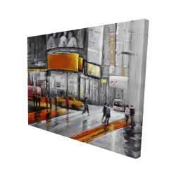 Canvas 48 x 60 - 3D - Circulation in times square