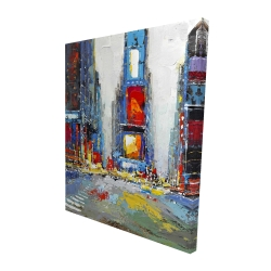 Canvas 48 x 60 - 3D - Abstract and colorful buildings