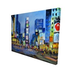 Canvas 48 x 60 - 3D - Cityscape in times square