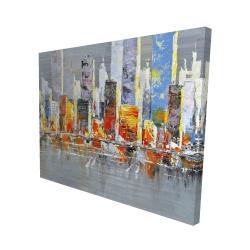 Canvas 48 x 60 - 3D - Color splash cityscape