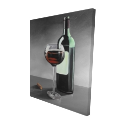 Canvas 48 x 60 - 3D - Bottle of burgundy