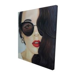 Canvas 48 x 60 - 3D - Fashionable sunglasses