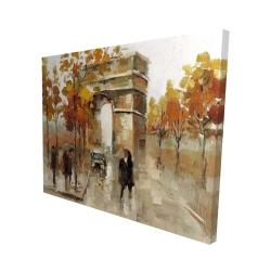 Canvas 48 x 60 - 3D - Arc de triomphe in autumn